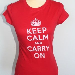 Tops - Keep Calm And Carry On T-shirt
